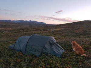 Tältplats på Jämtlandstriangeln